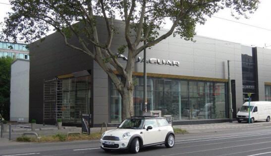Architectural facade panels project Jaguar Landrover Showroom