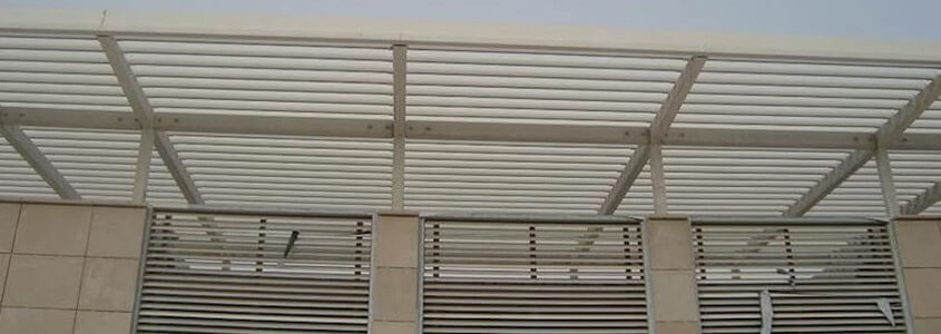 architectural louvre system for sun control in middle east - louvre cladding systems