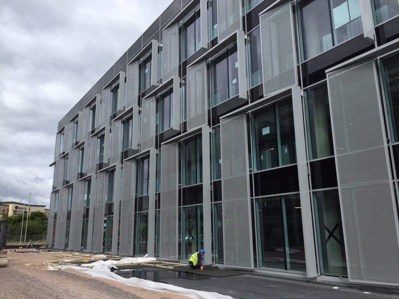mesh facade cladding systems winnersh UK by AFS international