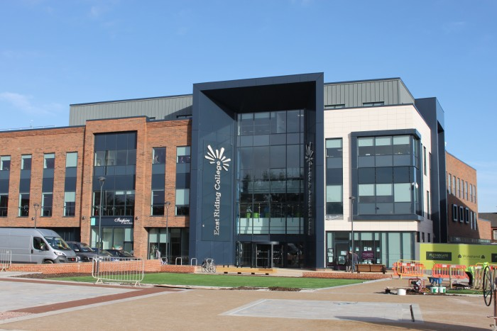 east riding college architectural facade design and project by afs international